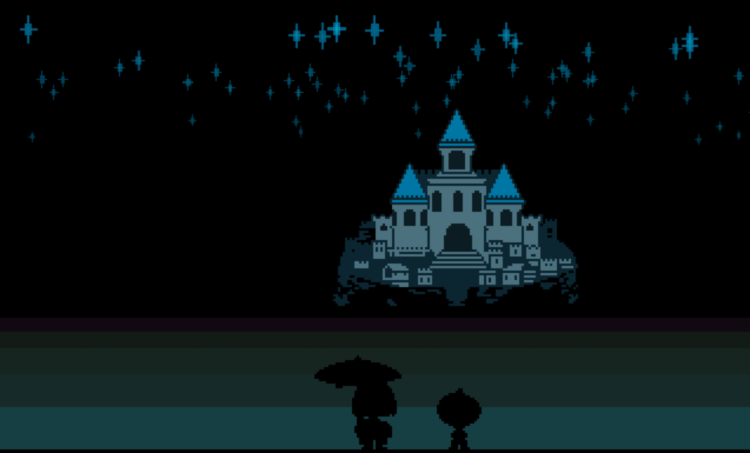 UNDERTALE castle in the stars
