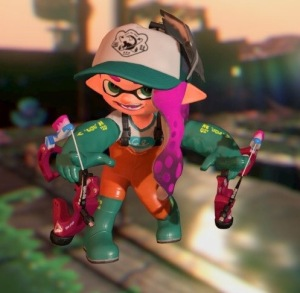 Salmon Run uniform, rubber waders, Splatoon 2, Inking Girl