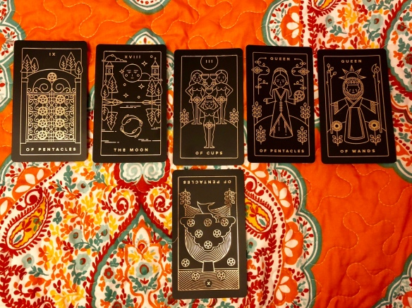 Golden thread tarot cards interview spread