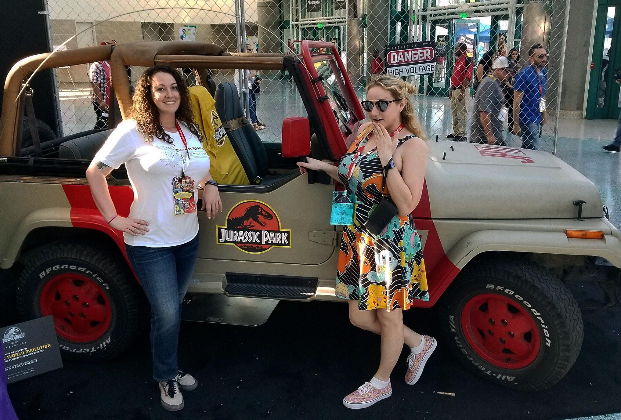 Jurassic World Evolution Jeep at E3 2018