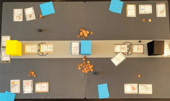 Binding of Isaac Four Souls Multiplayer Card Game Layout