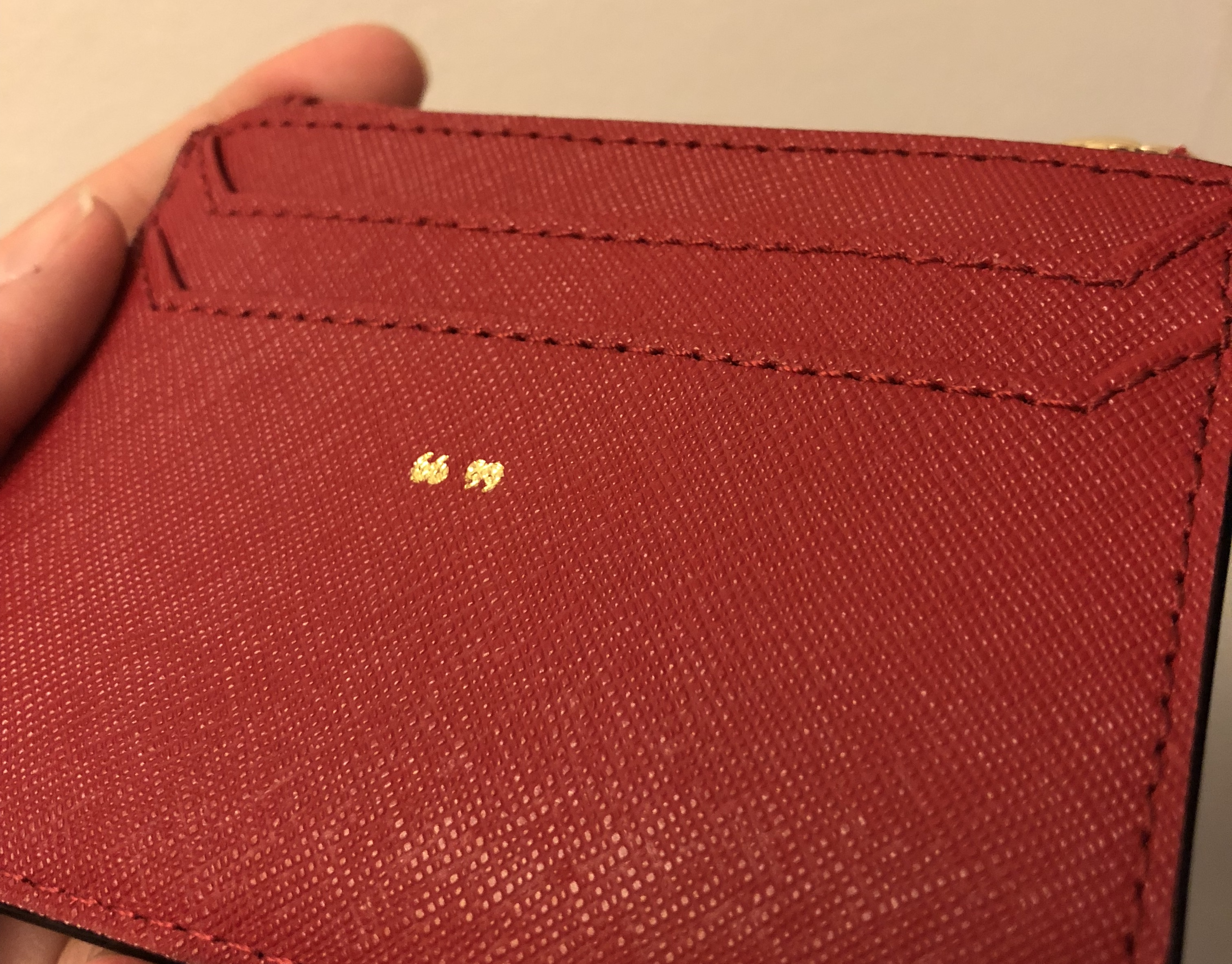Kate Spade Cameron Street Lalena Red with gold embossing